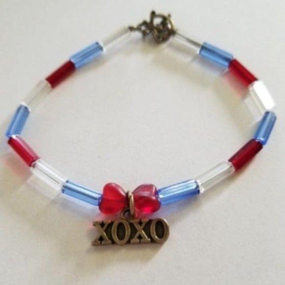 Red White Blue XOXO smaller Bracelet * Jewelry